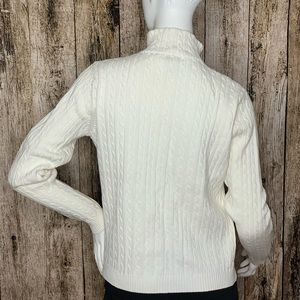 Charter Club Sweaters - Charter Club Casual Cream White Zippered Sweater